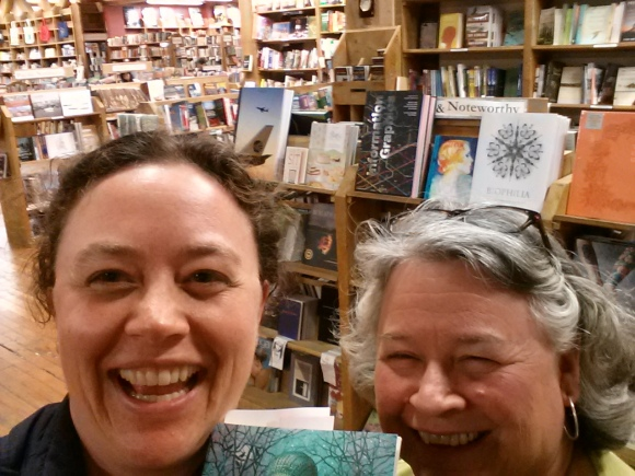 At Elliott Bay, our last top. We did it! 17 bookstores in one day!