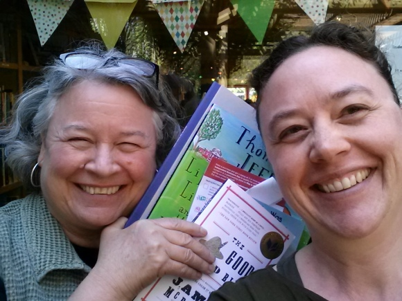 One of our more successful selfies! At Queen Anne Books.